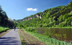 Elbe trail behind the german border