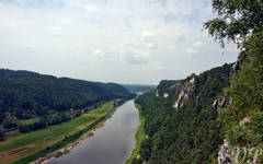 Elbe valley from Bastei